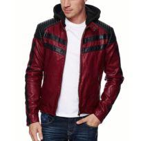 Freeside - Veste cuir coupe ajustée Veste homme 545 rouge