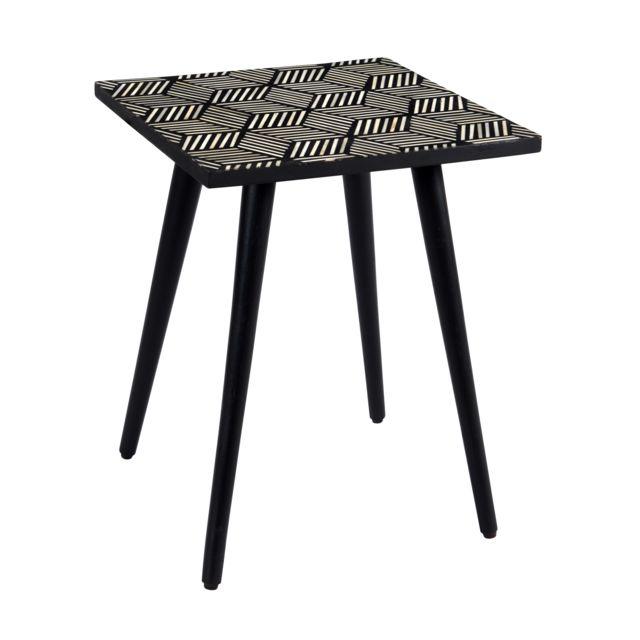 Rendez Vous Deco Table basse carrée Pyroli