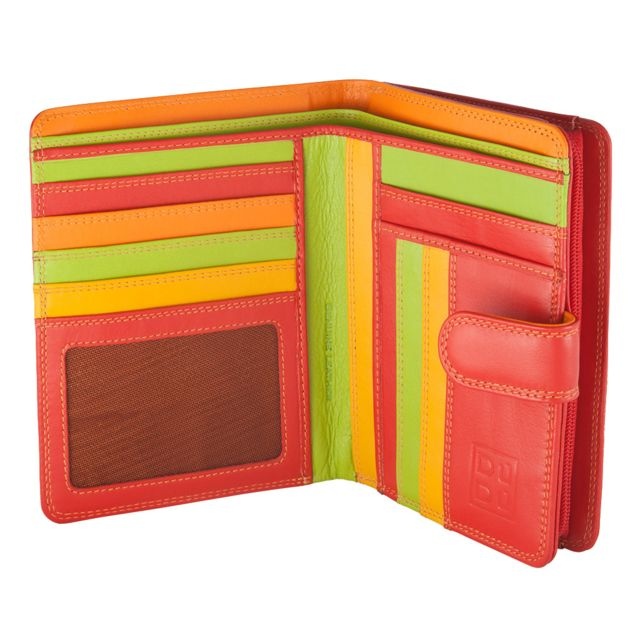 Portefeuille pour Femme Multicolore en Cuir Souple /à Soufflet sign/é DUDU Woods