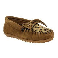 Minnetonka - Kilty velours + leopard Enfant-28-Marron