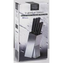 Pradel - Bloc Mill inox brossé 5 couteaux Bloc