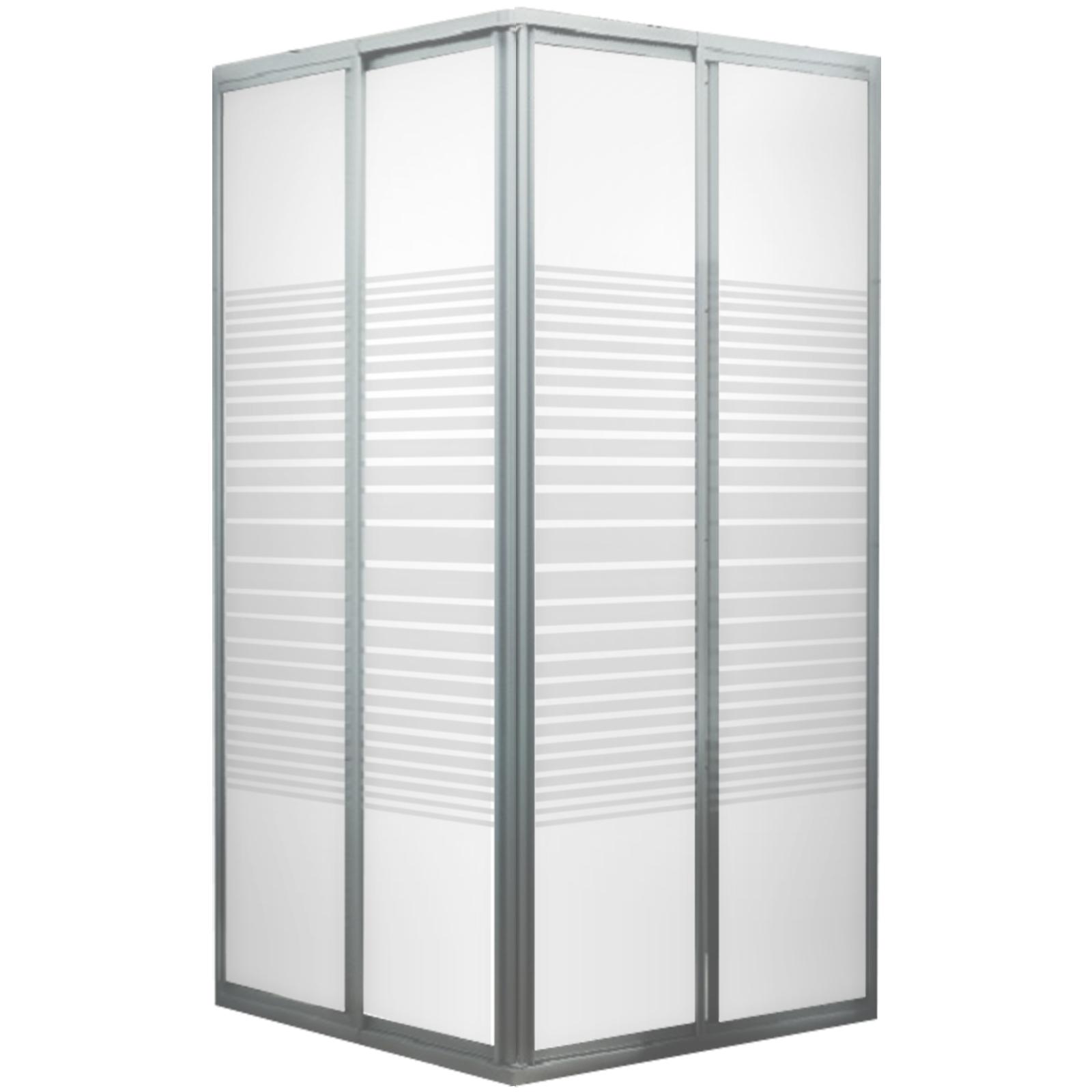 accès d'angle avec portes coulissantes, 88x175 cm, rayures horizontales, Sunny