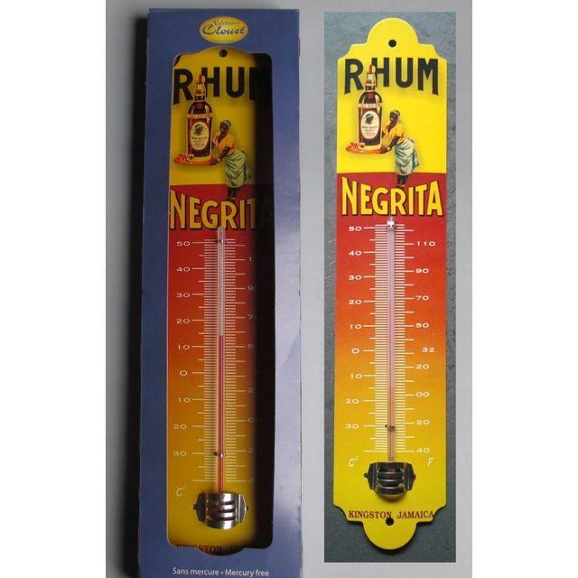 Universel Thermometre rhum negrita alcool deco bar diner cuisine tole
