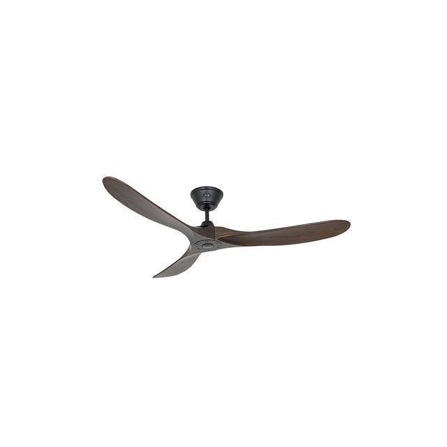 boutica design ventilateur genuino 152cm noir noyer fonc casafan pas cher achat vente. Black Bedroom Furniture Sets. Home Design Ideas