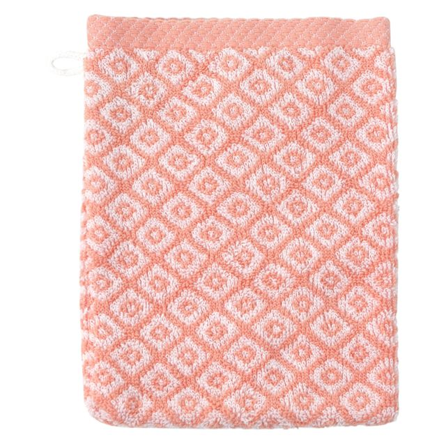 linnea gant de toilette 16x21 cm shibori mosaic orange 500 g m2 pas cher achat vente gants. Black Bedroom Furniture Sets. Home Design Ideas