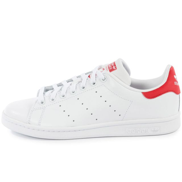 Adidas originals - Stan Smith Blanche Et Rouge 44 - pas cher ...