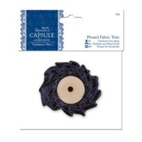 Papermania - Capsule Collection Pleated Fabric Trim 1 Meter Parisienne Blue