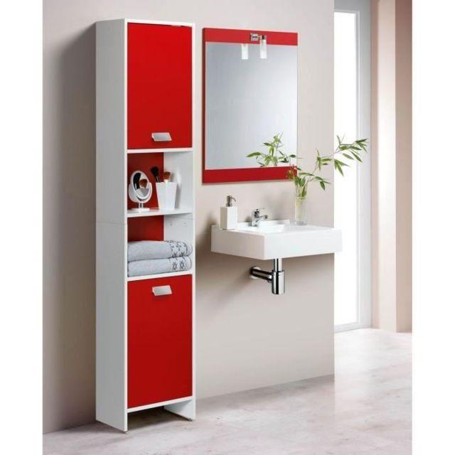 Top Colonne de salle de bain 39cm - Blanc et rouge - pas cher Achat ...
