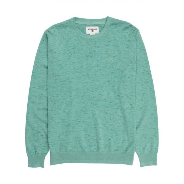 170f898788ed Billabong - Pull All Day Crew - Dark Jade - pas cher Achat   Vente Pull  homme - RueDuCommerce