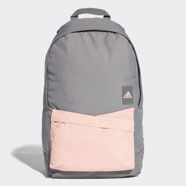 7ebd88f2ac Adidas - Sac à dos CLASSIC gris et rose - pas cher Achat / Vente ...