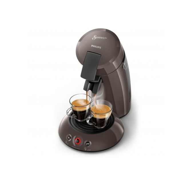 philips cafeti re senseo original hd6554 21 marron bistro set 2 mugs double paroi avec. Black Bedroom Furniture Sets. Home Design Ideas