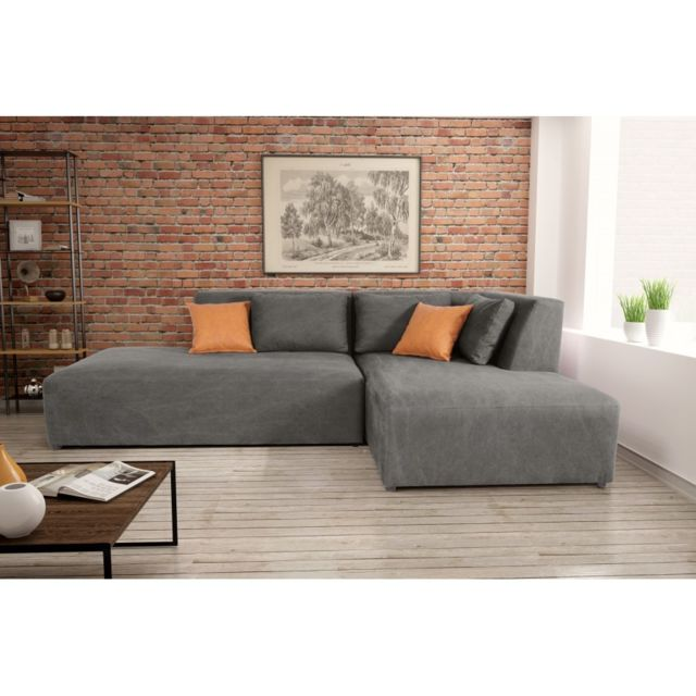 Rocambolesk Canapé Neron Ottl El140 E80 Lchr Denim 14 antr Kos 05 angle droit sofa divan