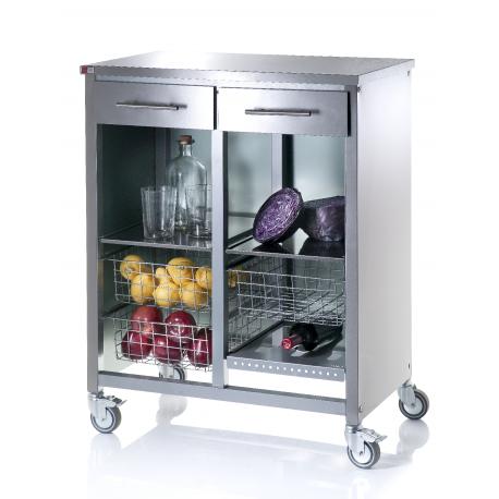 don hierro desserte de cuisine inox steel cook double pas cher achat vente desserte. Black Bedroom Furniture Sets. Home Design Ideas