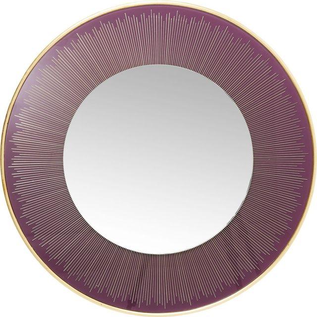 Karedesign Miroir rond Revival violet 76cm Kare Design