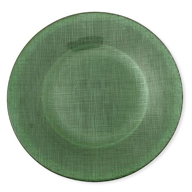 Bruno Evrard - Assiette plate en verre vert 28cm - Lot de 6 - Verre - Vert