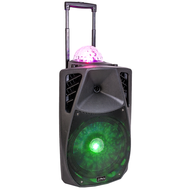 Party Light&sound Party-15 Astro - Enceinte animée portable 15p/38CM - 800W avec usb, bluetooth, fm, et micro vhf