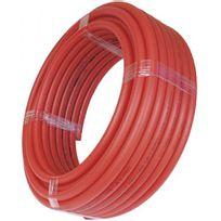 Cipso - Tube Per nu en polyéthylène réticulé rouge couronne 120 m - diamètre 20