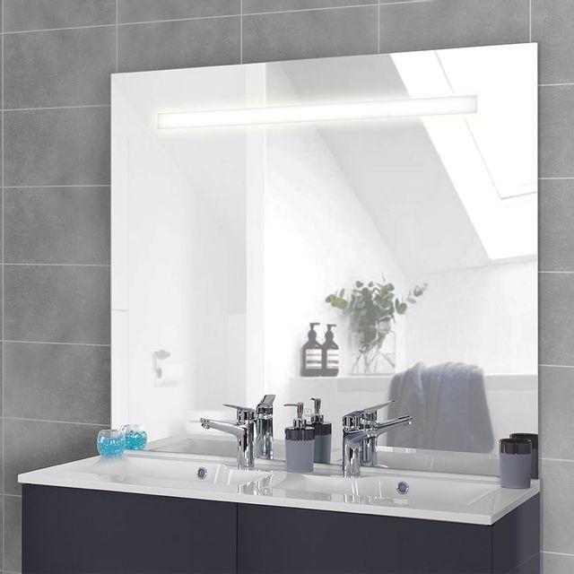 creazur miroir r tro clair mirlux 120x105 cm avec interrupteur sensitif pas cher achat. Black Bedroom Furniture Sets. Home Design Ideas