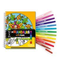 Sentosphère - Carnet de coloriage et feutres : Mandalas