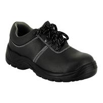 Label Blouse - Chaussure de travail antidérapante Chaussure de sécurité Chaussure sécurité Basse Classique Noir piqure