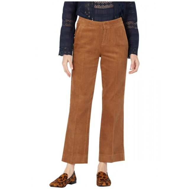 Mkt Pantalon droit 7/8e velours Pindra