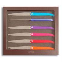 Laguiole Production - Coffret 6 Couteaux Laguiole Acidule Multicolore
