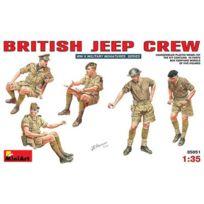Mini Art - Figurines 2ème Guerre Mondiale : Equipage de Jeep armée britannique