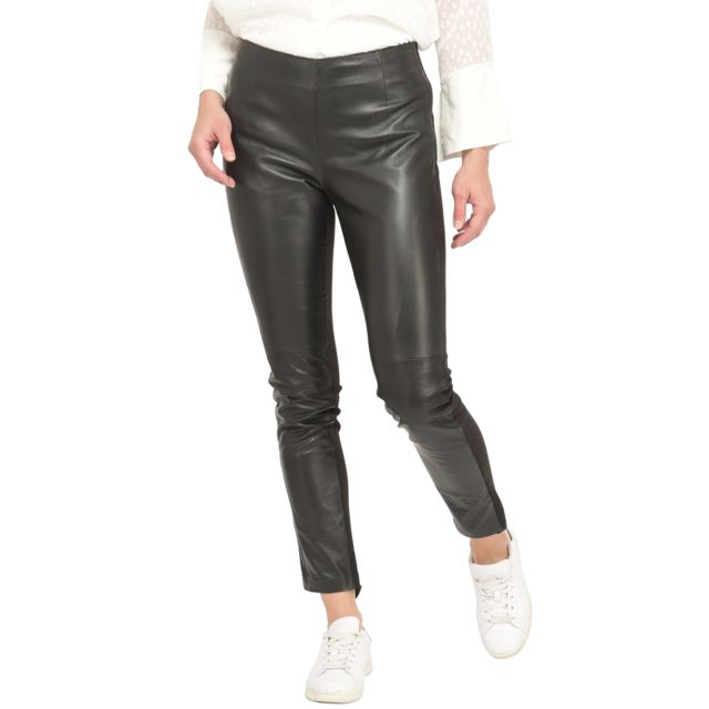 Isaco Pantalon bimatière en cuir