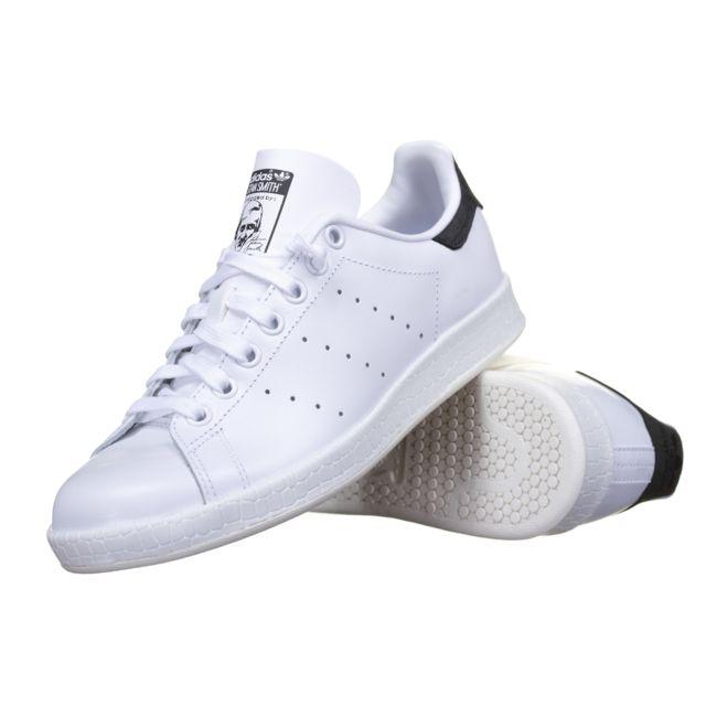 Hommes Adidas Originals Stan Smith Baskets blanc noir