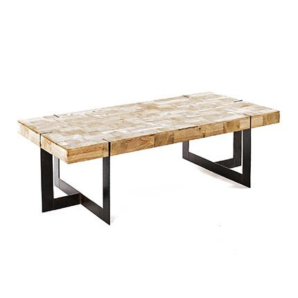 Table basse 120X60XH40CM bois et métal - Ciudad