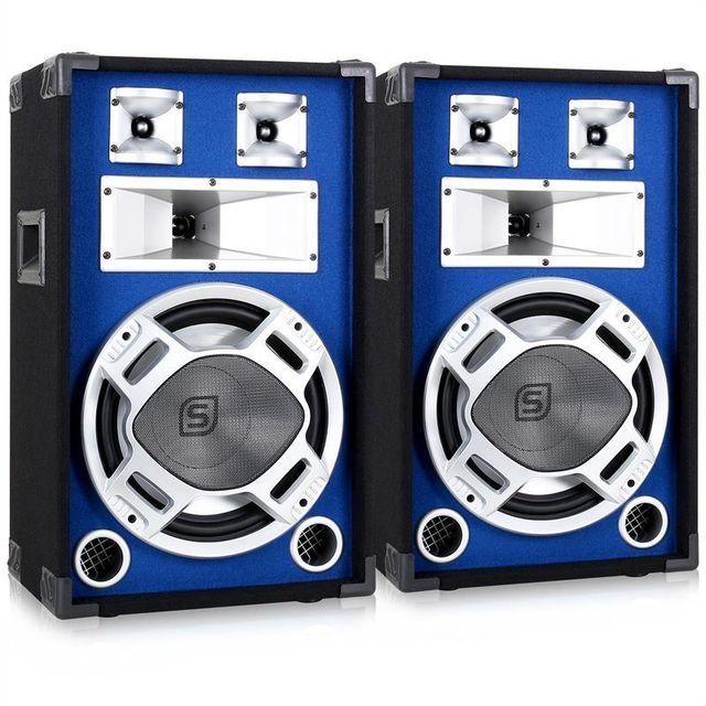 SKYTRONIC Skytec Paire d?Enceintes Sono Passives DJ PA Pack Sono 1200W Subwoofer
