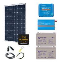 Myshop-solaire - Kit solaire 300w premium plus autonome + convertisseur 230v/1200va