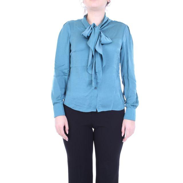 Molly Bracken Femme R1327A19BLUE Bleu Polyester Chemise