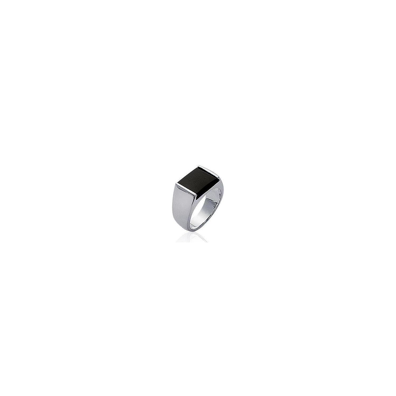 COLLECTION ZANZYBAR- Bague homme en argent de style chevalière avec carré  noir onyx collection Homme 2620129918d6