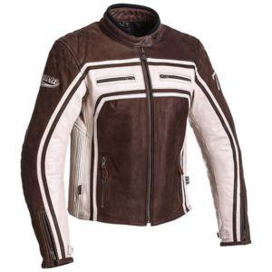 Segura - blouson moto cuir femme Lady Jones vintage toutes saisons  marron-mastic Scb1063