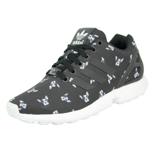 Femme Mode W Sneakers Adidas Originals Noir Chaussures Zx Flux 34Aq5LRj