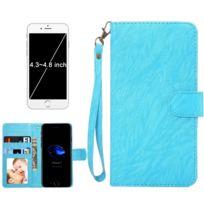 Wewoo - Coque bleu pour iPhone 8 & 7 & 6s & 6 & 5 & 5s Se, Samsung Galaxy Siv & Siii, Taille: 13,5 x 7 x 1,8 cm ordinateur portable, housse de protection et cadre magnétique rabat horizontale avec en cuir