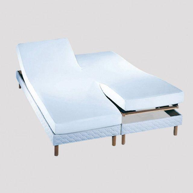 essix drap housse double tpr prot ge matelas molleton blanc coton 220gr m 2 x 80 x 200 cm. Black Bedroom Furniture Sets. Home Design Ideas