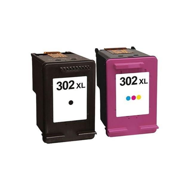 plein d 39 encre pack 2 cartouches d 39 encre n 302 xl noir et couleur grande capacit pour. Black Bedroom Furniture Sets. Home Design Ideas
