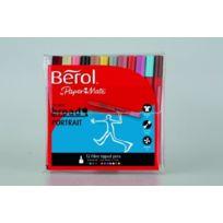 Berol - Pochette De 12 Feutres ÉPAIS Colourbroad Portrait Couleurs Assorties