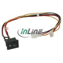 InLine® - Cable Extension avec Interrupteur pour Ventilateur Molex 3 broches