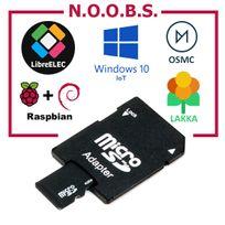 Planete Domotique - Carte Micro Sd 8Go avec Noobs pré-installé pour Raspberry Pi toutes versions