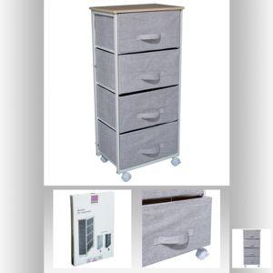 Topdeco meuble de rangement 4 tiroirs roulettes for Meuble chine design