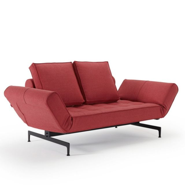 Inside 75 Canapé design Ghia Laser Twist_Rust Red convertible lit 210 80cm