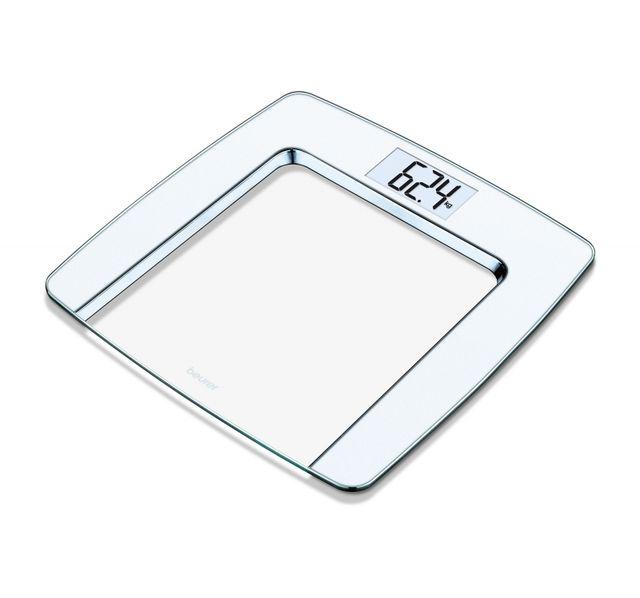 BEURER Pèse-personne en verre GS 490 Blanc