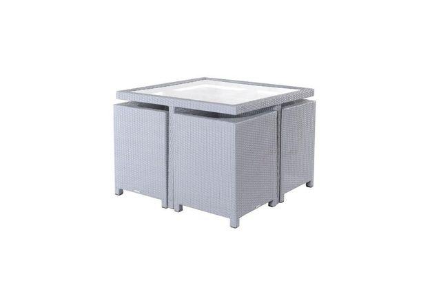 Miliboo - Mobilier de jardin résine tressée table et chaises ...