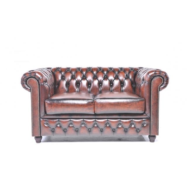 CHESTERFIELD Origine 2-Places Antique Brun