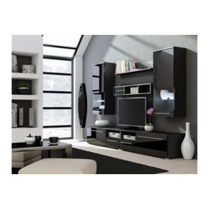 chloe design meuble tv design park noir pas cher achat vente meubles tv hi fi. Black Bedroom Furniture Sets. Home Design Ideas