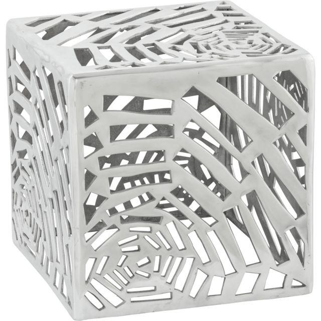 KOKOON DESIGN Table basse carrée design en aluminium Toile