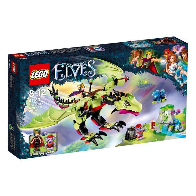 lego elves le dragon mal fique du roi des gobelins 41183 pas cher achat vente lego. Black Bedroom Furniture Sets. Home Design Ideas